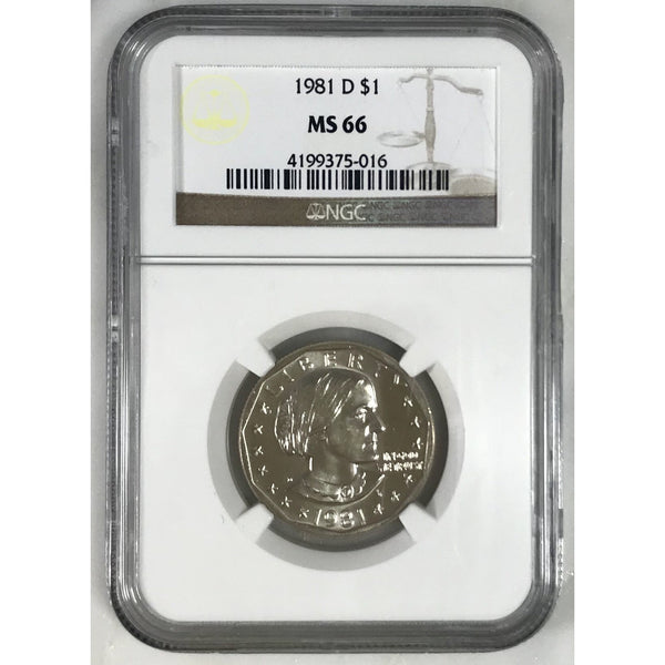 1981 D Susan B Anthony Dollar Ngc Ms66 #501620 Coin