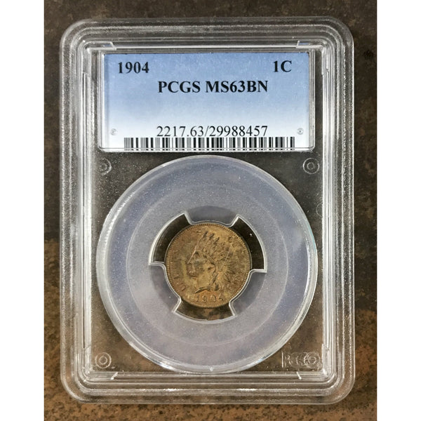 1904 Indian Head Cent Pcgs Ms63 Bn *rev Tyes* #845775