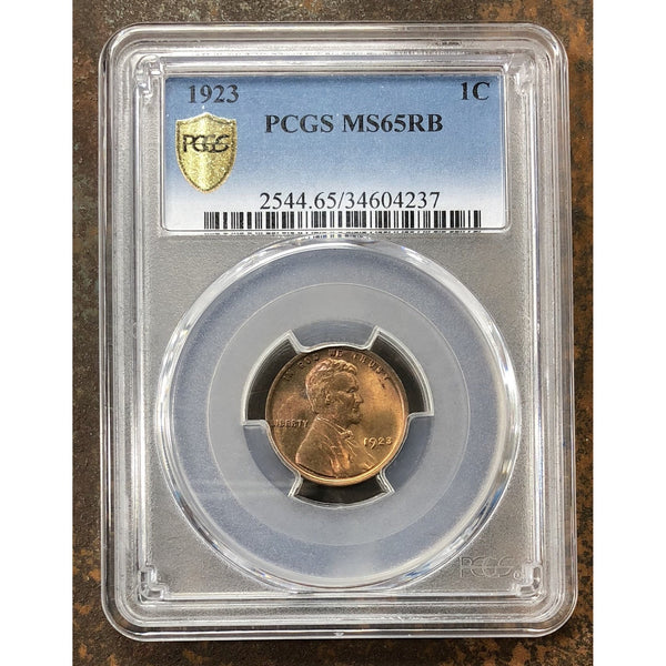 1923 Lincoln Cent Pcgs Ms65Rb *rev Tyes* #4237123