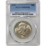 1948 Franklin Half Pcgs Ms65Fbl *rev Tyes* #467781 Coin