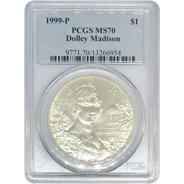 1999 Dolley Madison Dollar PCGS MS70 *Rev Tye's* #695459