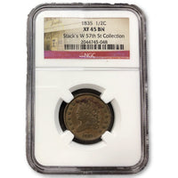 1835 Classic Head Half Cent Ngc Xf45Bn *rev Tyes* #5048 Coin