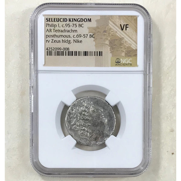 Seleucid Kingdom Phillip I C. 95-75 Bc Ngc Vf *rev Tyes* #9008255 Coin