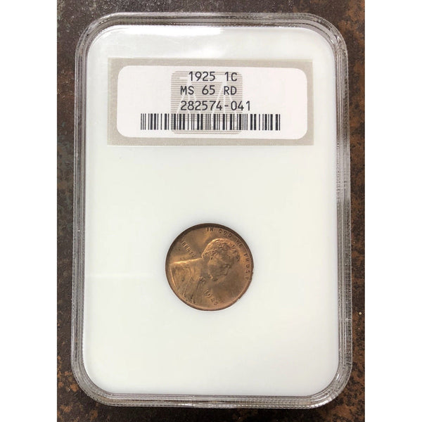 1925 Lincoln Cent Ngc Ms65 Rd *rev Tyes* #4041115 Coin