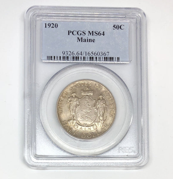 1920 Maine Half Dollar PCGS MS64 *Rev Tye's* #0367170