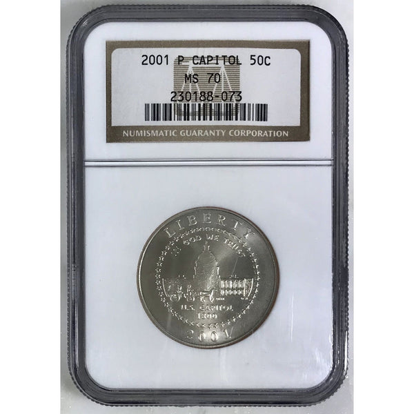 2001 P Capitol Half Ngc Ms70 807342 Coin