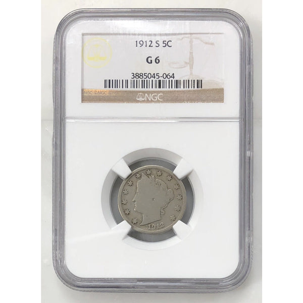 1912 S Liberty Nickel Ngc G6 *rev Tyes* #5064134