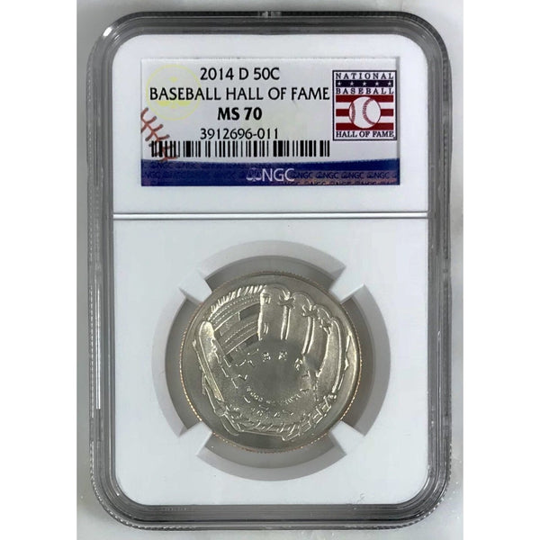 2014 D Baseball Hall Of Fame Half Dollar Ngc Ms70 601163 Coin