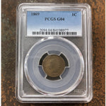 1869 Indian Head Cent Pcgs G04 *rev Tyes* #897768