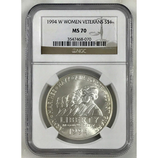 1944 W Women Veterans Commemorative Dollar Ngc Ms70 #807062