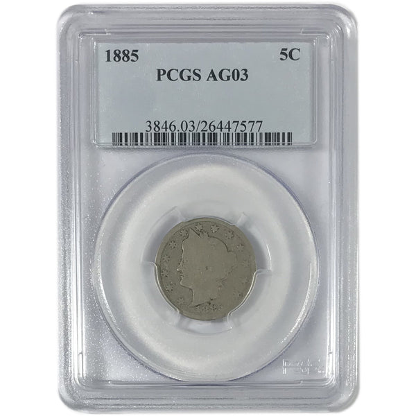 1885 Liberty Nickel PCGS AG03 *Rev Tye's*  #7577214