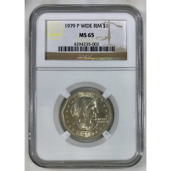 1979 P Susan B. Anthony Wide Rim Ngc Ms65 500253 Coin