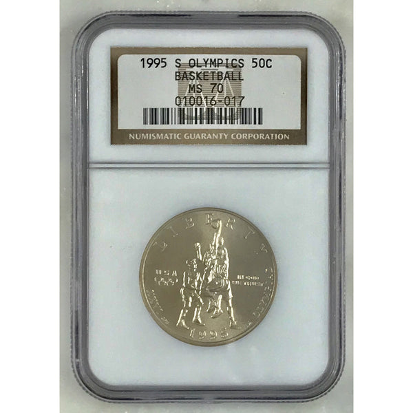 1995 S Olympics Basketball Half Dollar Ngc Ms70 #601760