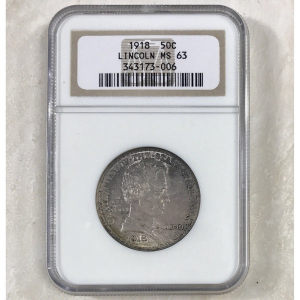 1918 Lincoln Commemorative Half Ngc Ms63 *rev Tyes* #3006143