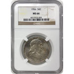1956 Franklin Half Dollar Ngc Ms66 *rev Tyes* #500563 Coin