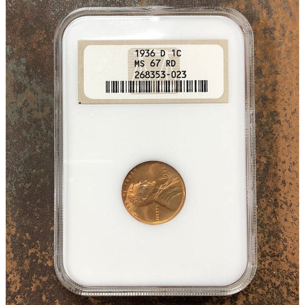 1936 D Lincoln Cent Ngc Ms67 Rd *rev Tyes* #3023135