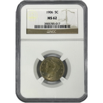 1906 Liberty Nickel NGC MS62 *Rev Tye's* #501786