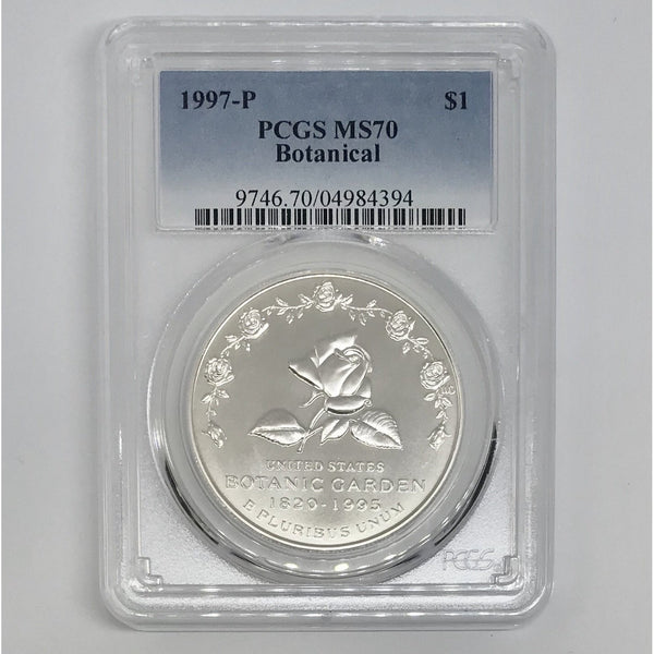 1997 Botanical Dollar PCGS MS70 *Rev Tye's* #4394145