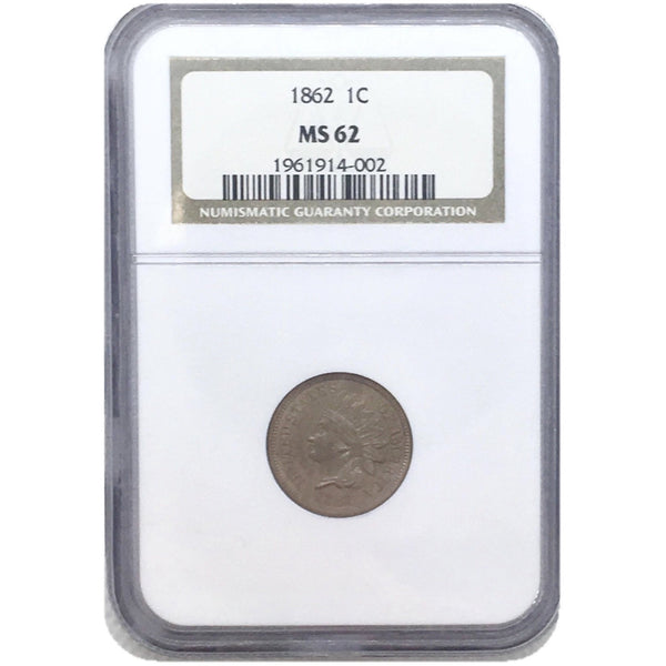 1862 Indian Head Cent NGC MS62 *Rev Tye's*  #4002165