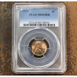 1920 Lincoln Cent Pcgs Ms65 Rb *rev Tyes* #8936117 Coin