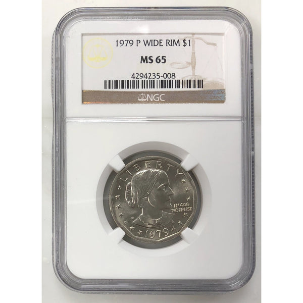 1979 Susan B Anthony Wide Rim Ngc Ms65 #500853