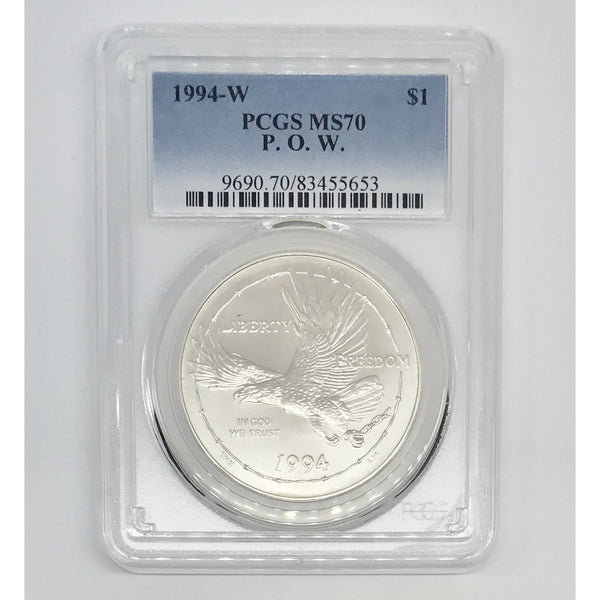 1994 W P.O.W. Dollar PCGS MS70 *Rev Tye's* #565398