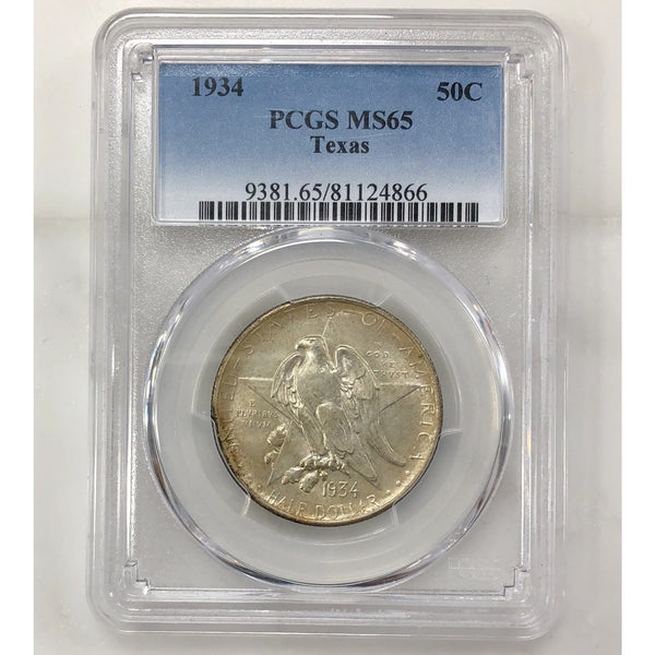 1934 Texas Commemorative Half Pcgs Ms65 *rev Tyes* #4866159