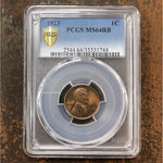 1923 Lincoln Cent Pcgs Ms64Rb *rev Tyes* #1744105