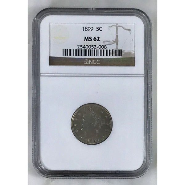 1899 Liberty Nickel Ngc Ms62 *rev Tyes* #200889