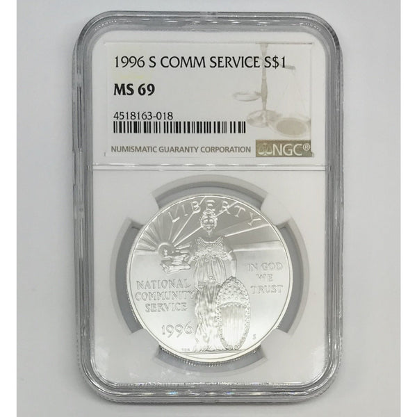1996 S Community Service Dollar NGC MS69 *Rev Tye's* #301873