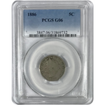1886 Liberty Nickel PCGS G06 *Rev Tye's* #9732