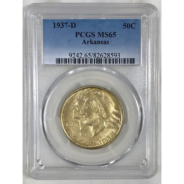 1937-D Arkansas Half Dollar Pcgs Ms65 *rev Tyes* #8593164 Coin