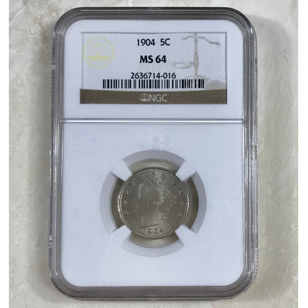 1904 Liberty Nickel Ngc Ms64 *rev Tyes* #4016