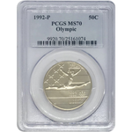 1992 P Olympic Half Dollar Pcgs Ms70 *rev Tyes* #107441 Coin
