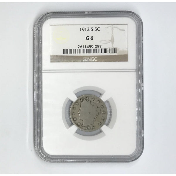 1912 S Liberty Nickel NGC G6 *Rev Tye's* #9057125