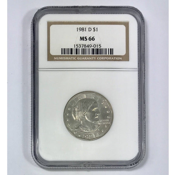 1981 D Susan B Anthony Dollar Ngc Ms66 *rev Tyes* #901515 Coin