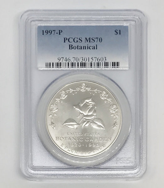 1997 Botanical Dollar PCGS MS70 *Rev Tye's* #7603145