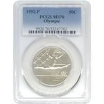 1992 P Olympic Half Dollar Pcgs Ms70 *rev Tyes* #770230 Coin