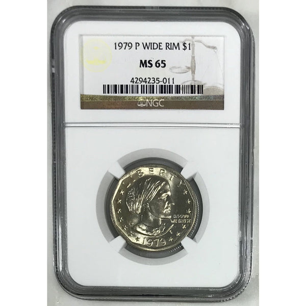 1979 P Susan B. Anthony Wide Rim Ngc Ms65 501153 Coin