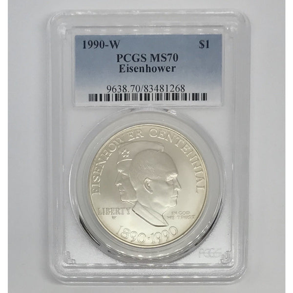 1990 W Eisenhower Dollar PCGS MS70 *Rev Tye's*  #1268100