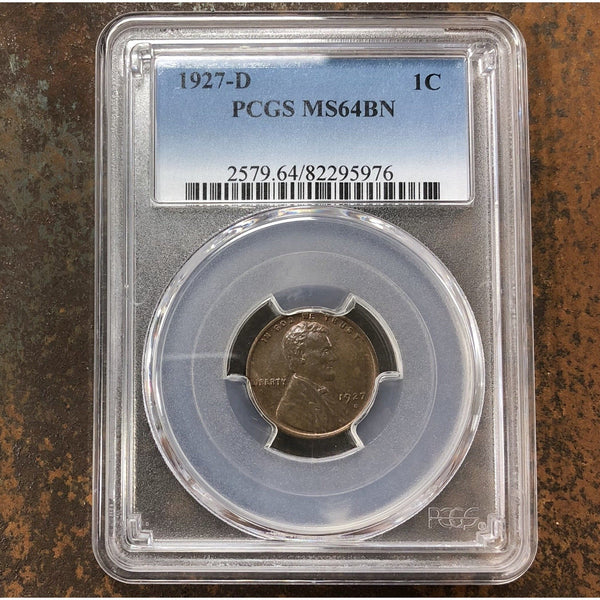 1927-D Lincoln Cent Pcgs Ms64Bn *rev Tyes* #5976130 Coin