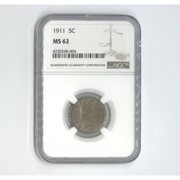 1911 Liberty Nickel NGC MS62 *Rev Tye's* #800494