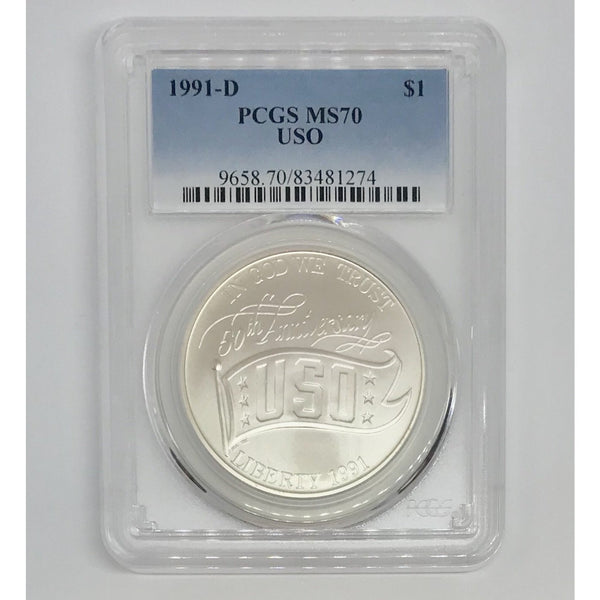 1991 D USO Dollar PCGS MS70 *Rev Tye's* #127470