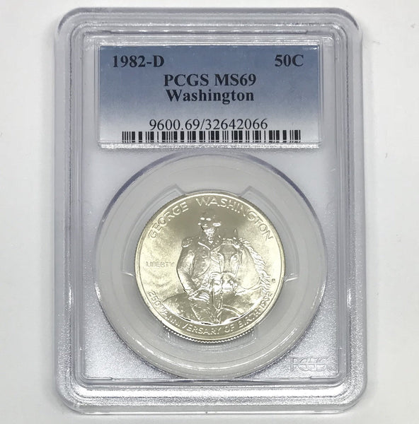 1982 D Washington Commemorative PCGS MS69 *Rev Tye's* #206669