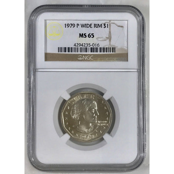 1979 P Susan B. Anthony Wide Rim Ngc Ms65 #501653 Coin