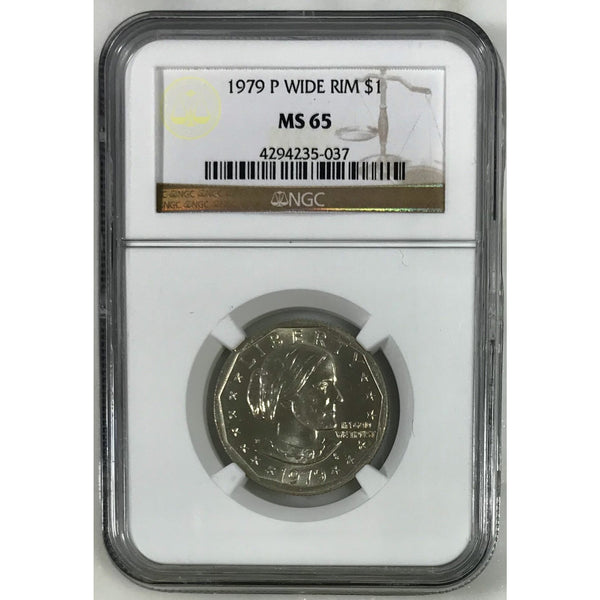 1979 Susan B. Anthony Dollar Wide Rim Ngc Ms65 #503753 Coin