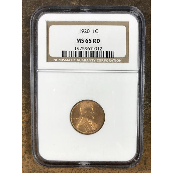 1920 Lincoln Cent Ngc Ms65 Rd *rev Tyes* #7012200