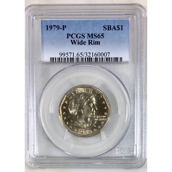 1979-P Wide Rim Susan B Anthony Pcgs Ms65 #000753 Coin
