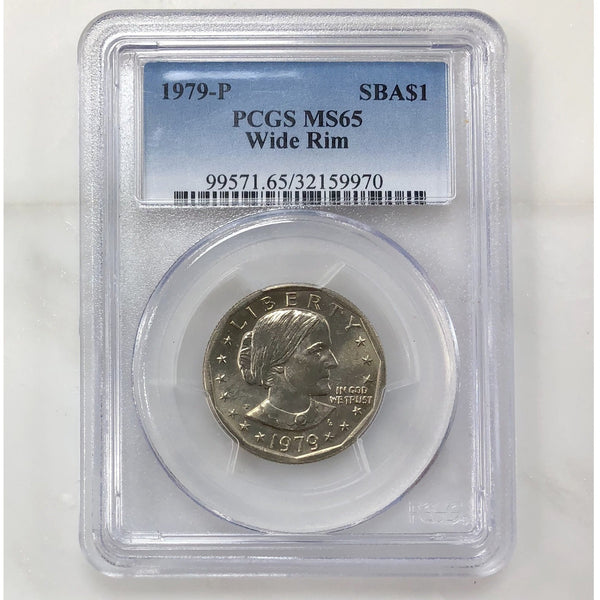 1979 P Susan B Anthony Wide Rim Pcgs Ms65 *rev Tyes* #997053