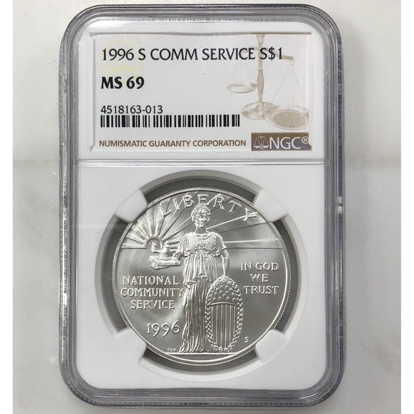 1996 S Community Service Dollar Ngc Ms69 *rev Tyes* #301367